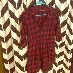 Love Culture Flannel Dress